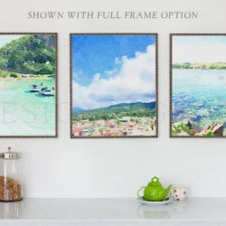 Three Frames Wall Gallery Mockup Etsy