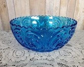 1950 Imperial Atterbury Scroll Bright Blue Large Bowl