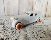 Vintage Restored 1930S Barclay Ambulance 5 INCH No 50 White Wheels USA Manoil