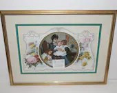 1903 Large Victorian Standee Calendar Beautifully Framed