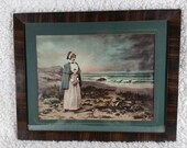1899 Ullman Print of Priscilla Mullins Alden Beautifully Framed Mattted
