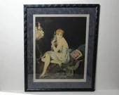 Rare Signed 1926 William Ablett Aquatint Etching Estampe Moderne