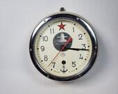 Russian Soviet Submarine Navy Marine Ship - Wall Clock Vostok
