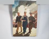1946 N.C. Wyeth Hercules Powder Military Calendar Top Litho