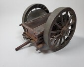 Detailed Wood Model or Handmade Dumping Action Limber Cannon
