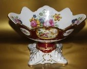 European Design Decorative Porcelain Pedestal Bowl Fragonard Love Story