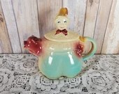 Shawnee Pottery The Piper's Son Hand Painted Teapot 1940'S USA
