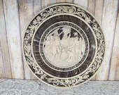1992 Large Incolay Wall Plaque Christopher Columbus Quincentennial 16 Inch