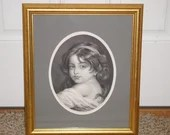 1850s Jean Baptiste Greuze Childhood Framed Steel Engraving