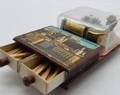 Reuge Souvenir Swiss Music Box Match Holder Salzburg Austria