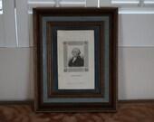 Early Scarce 1824 Stipple Engraving George Washington George Smeeton Framed