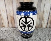 Vintage Circa 1987 Curras Brothers Signed Ceramic Art Pottery Vase