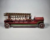 1920s Scheible Dayton Friction Driven Fire Truck Pressed Steel All Ladders