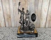 Rare Signed Michael Ricker Pewter 1996 Olympic Games Torch Relay 176/500