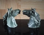1925 Pair Bronze Paul Herzel Mare and Colt Bookends