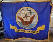 US United States Navy Embroidered 2 Sided Nylon Flag
