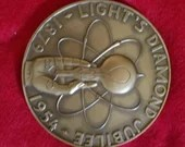 1957 Bronze Medal Lights Diamond Jubilee Thomas Edison