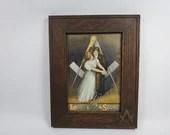 1909 Ullman Masonic Freemasonry Love On The Square Framed Picture