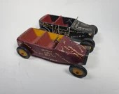 Pair of Amazing Vintage Pinewood Soapbox Derby Cars