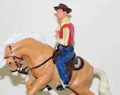 1960s Scarce Marx Bucking Broncho Bronco Cowboy with Box