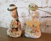 Pair Victorian Porcelain Lady Woman Busts Corday Cybis