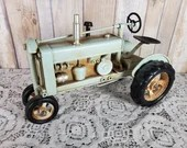 Recycled Metal Art Folk Art Rustic Farm Tractor Found Object