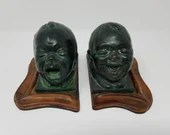 Pare Jean Antoine Houdon Bronze Laughing Crying Babies Figures