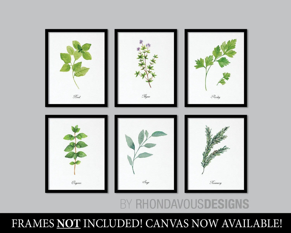 kitchen art prints countertops decor herbs print herb etsy image 0