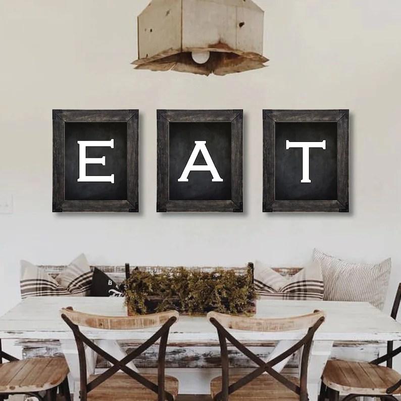 farmhouse decor eat sign