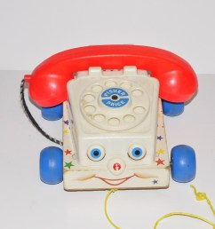 50 fisher price chatter pull along telephone rotary toy  [ 3000 x 1993 Pixel ]