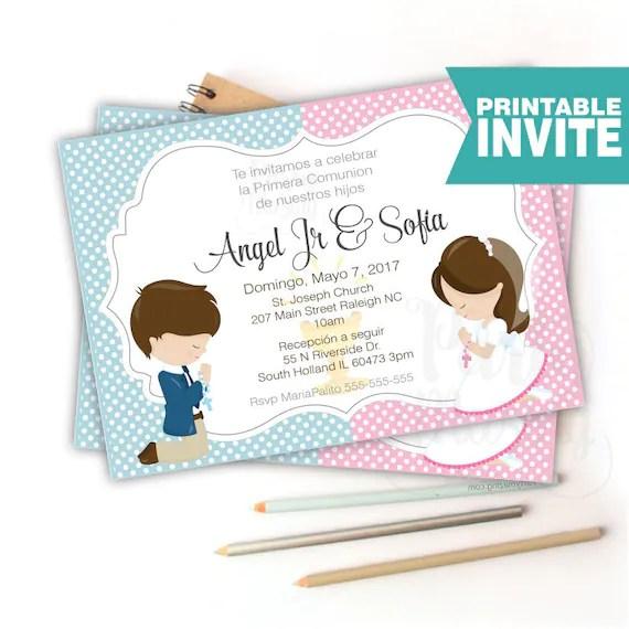 Invitacion De Para Primera Comunion Mensaje