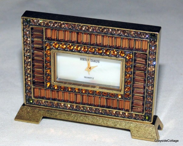 Heidi Daus Vanity Clock Quartz Travel Bedside Desk