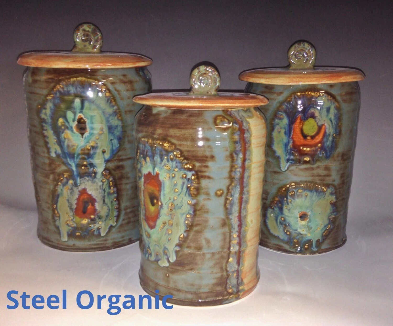 kitchen pottery canisters vintage faucet ceramic etsy handmade 5 inch small canister