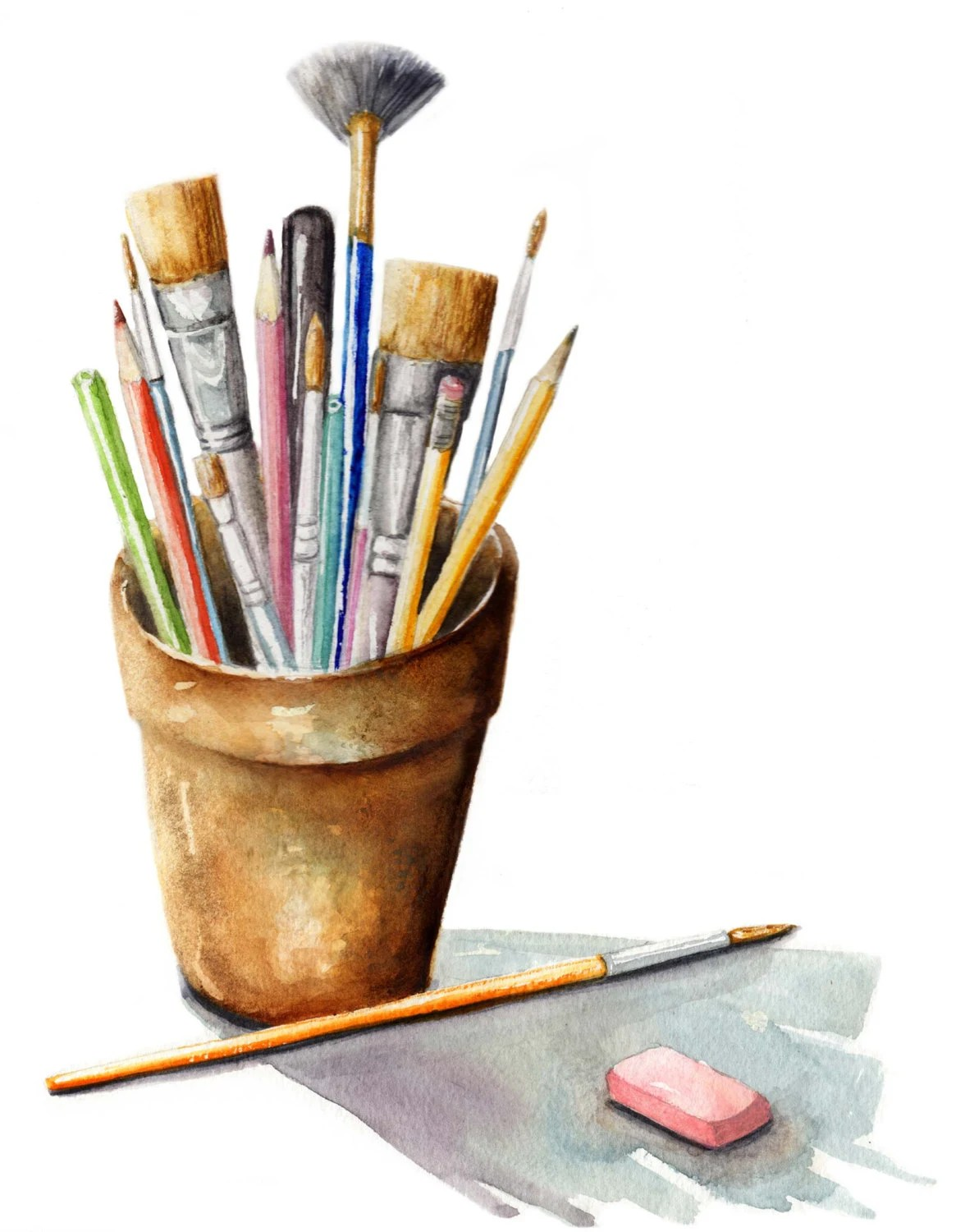 Watercolor Art Supplies Painting Paint Brushes Art