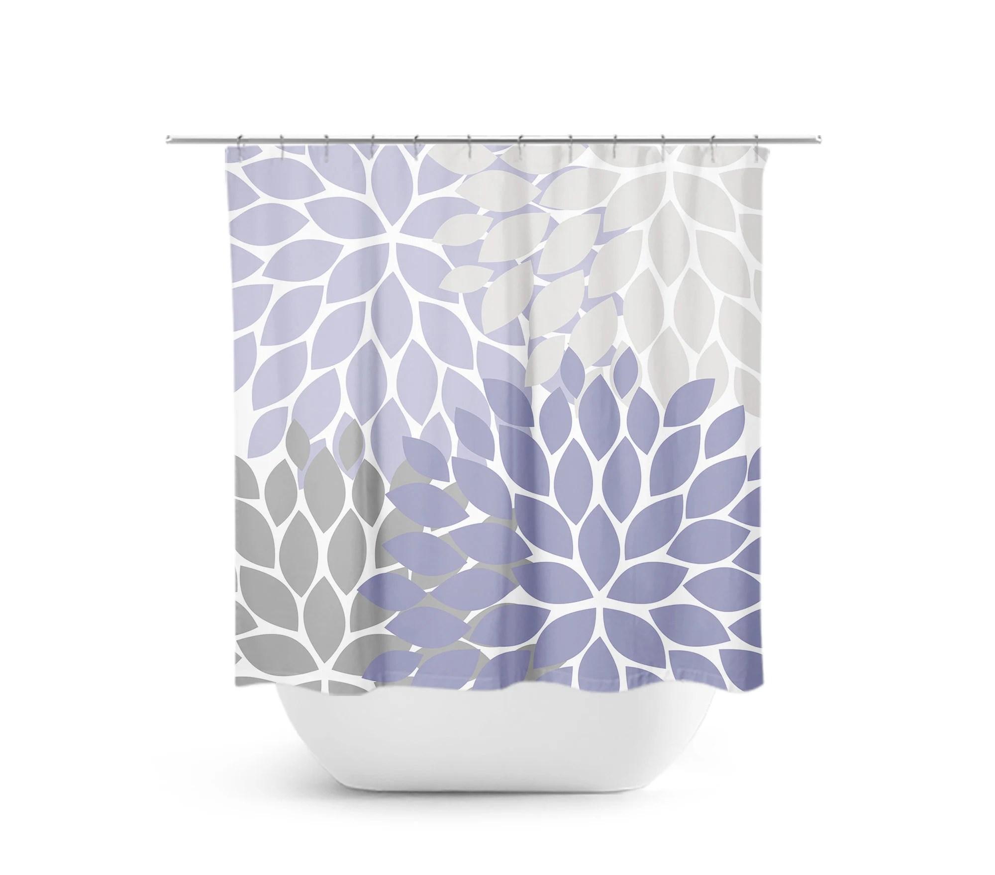 purple gray shower curtain floral bath curtain lavender bathroom fabric shower curtain girls bathroom decor purple bathroom shower73