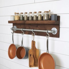 Kitchen Pot Rack Ss Equipments Etsy Rustic Industrial Gifts For Him Wall Shelf Wooden Home Decor