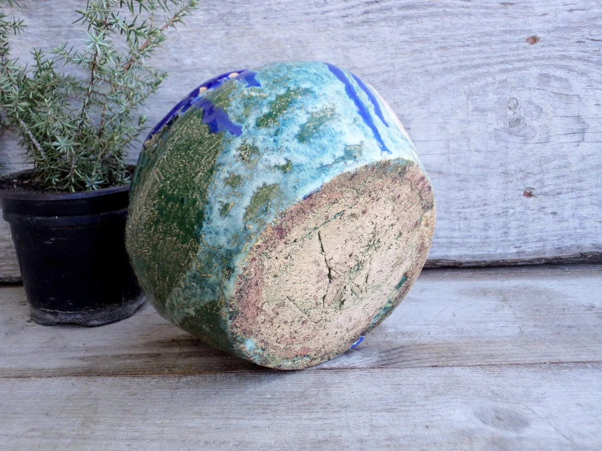 Mid Century Modern Ceramic Pot Primitive Planter