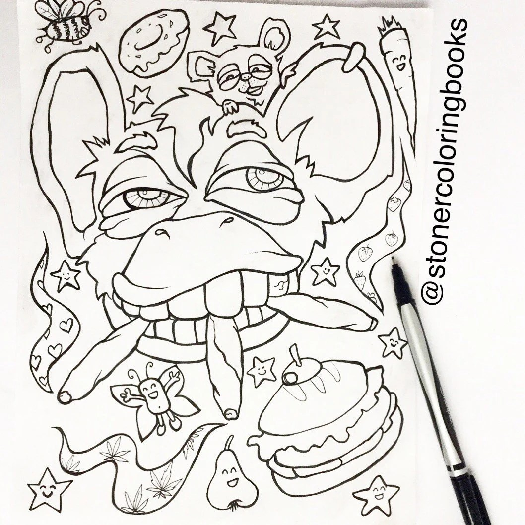 Stoner Coloring Book for Adults 2 weed stuff adult