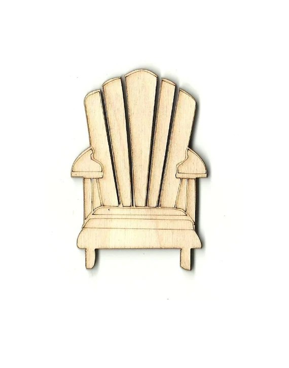 unfinished adirondack chair cover rentals in baltimore maryland laser cut out wood shape craft etsy image 0