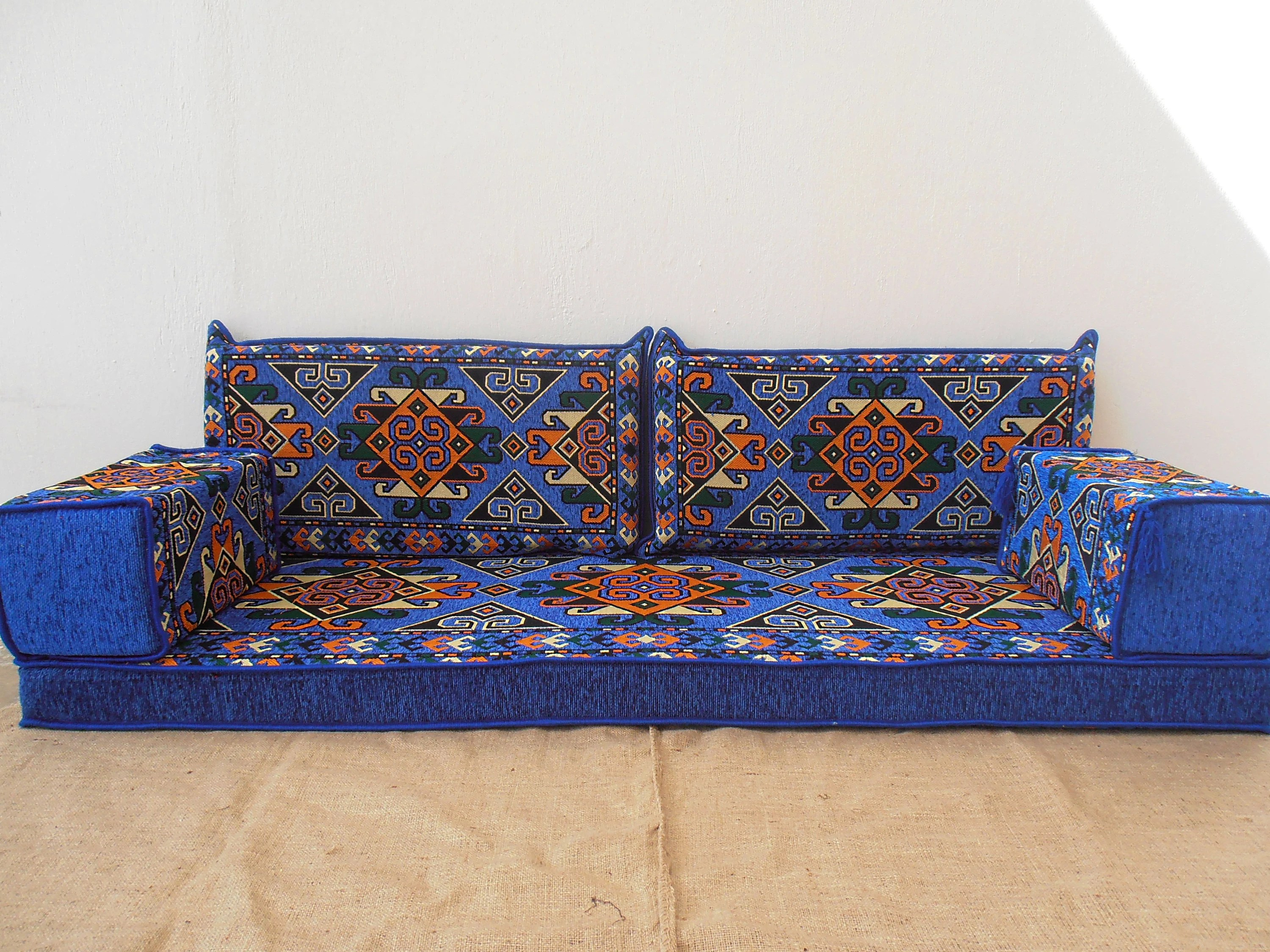 bohemian sofa bed sofaworks bad credit furniture etsy arabic style majlis floor set couch oriental seating ethnic living room