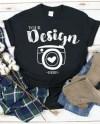 Gildan 500 Black Unisex Tshirt Mockupflat Lay Shirt Mock Etsy