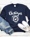 Gildan 18000 Heavy Blend Crewneck Sweatshirt Navy Sweatshirt Etsy
