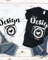 V Neck Family Blank T Shirt Gildan 5v00l White Black Mock Etsy