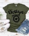Bella Canvas 3001 Olive Tshirt Mockups T Shirt Mock Up Bella Etsy