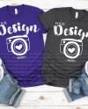 Family Blank T Shirt Bella Canvas 3001 Team Purple Dark Grey Etsy