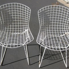 Bertoia Wire Chair Original Hickory Beds Harry 3 Vintage 420 Side Chairs For Knoll Etsy Image 0