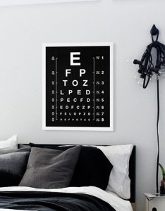 Image also eye chart print modern art black and white decor eyechart etsy rh