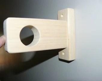 wood curtain holder etsy