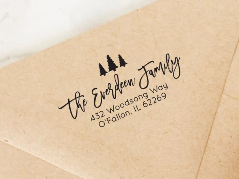 return address stamp holiday
