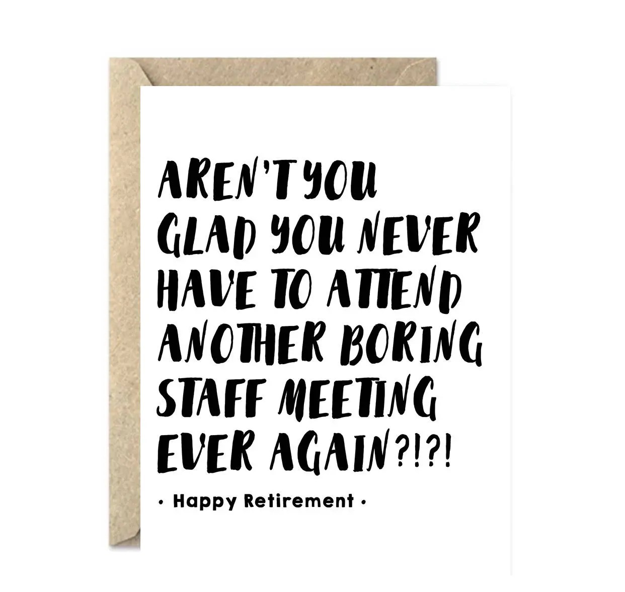 funny retirement card employee